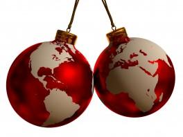 kerst wereldbollen